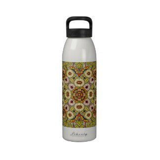 Vintages Illustrations-Blumen-Schmetterlings-Muste Wiederverwendbare Wasserflaschen
