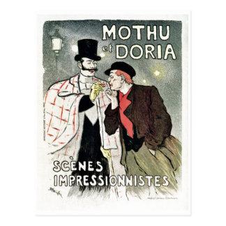 Vintages Impressionismusplakat Postkarte