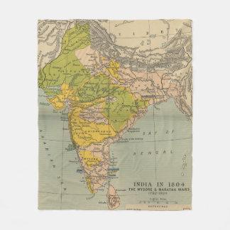 Vintages Indien Maratha und Mysore-Kriegs-Karte Fleecedecke