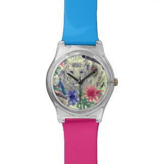 Vintages indisches Art-Tiger-Muster Uhr