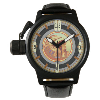 Vintages indisches Haupttest-Muster 2,0 Armbanduhr