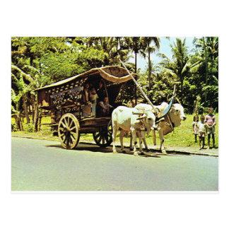 Vintages Indonesien, Gerobag, Jawa Tengah Postkarte