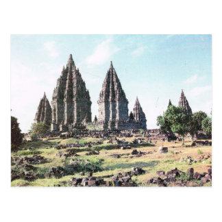 Vintages Indonesien, Prambanan, Tempel des 9. Postkarte