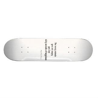 Vintages Inspirational Glück-Zitat Emerson Skate Board