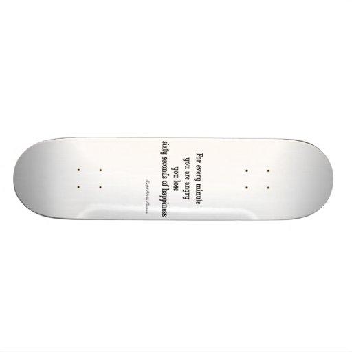 Vintages Inspirational Glück-Zitat Emerson Skateboard Deck