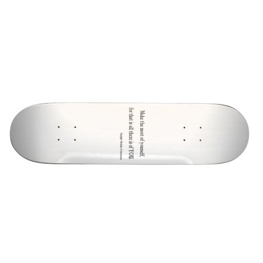Vintages Inspirational Zitat Emerson - kundengerec Personalisiertes Skatedeck