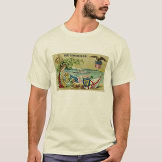 Vintages irisches Postkartenbild für Tag St. T-Shirt