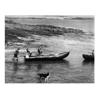 Vintages Irland, Aran Insel Currach Boote Postkarte