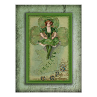 Vintages Irland Poster