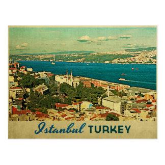 Vintages Istanbul die Türkei Postkarte