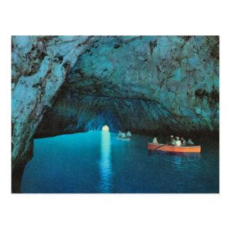 Vintages Italien, Capri, blaue Grotte Postkarten