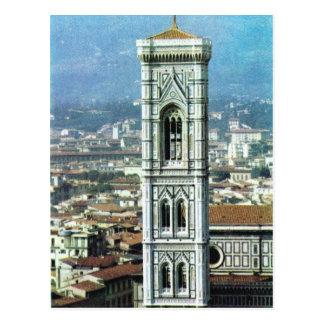 Vintages Italien, Firenze, Duomo, Giottos Postkarte