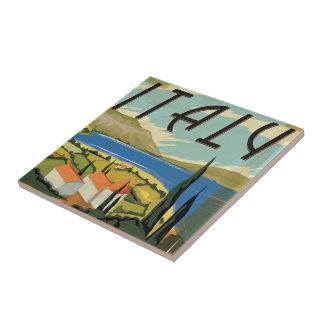 Vintages Italien-Plakat Keramikfliese