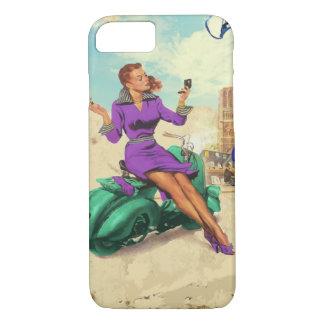 Vintages italienisches Mädchen iPhone 8/7 Hülle