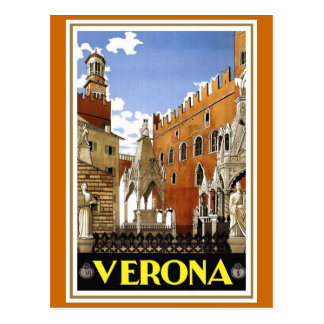 "Vintages italienisches Reise-Plakat ""Veronas"" Postkarte"