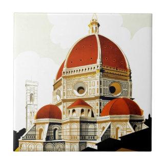 Vintages italienisches Tourismus-Plakat Fliese