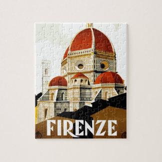 Vintages italienisches Tourismus-Plakat Puzzle