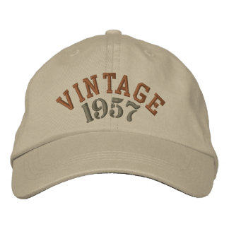 Vintages Jahr gestickte Baseballmütze Bestickte Baseballkappe