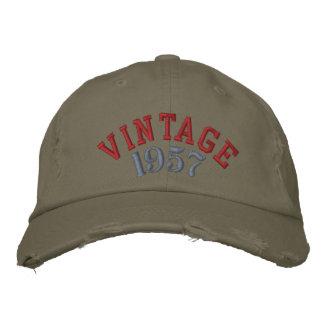 Vintages Jahr-kundenspezifische Baseballmütze Bestickte Kappe