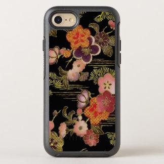 Vintages Japan-schwarzes Blumen OtterBox Symmetry iPhone 8/7 Hülle