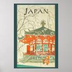 Vintages Japaner-Reise-Plakat Poster