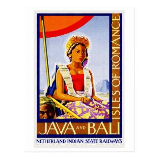 Vintages Java und Bali Indonesien durch Postkarten