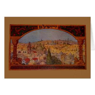 Vintages Jerusalem Karte