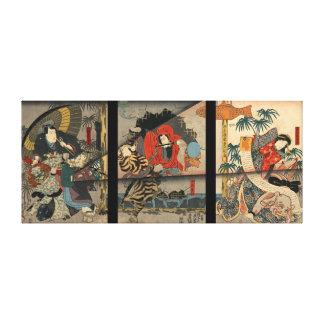 Vintages Kabuki Plakat 1847 Gespannter Galerie Druck
