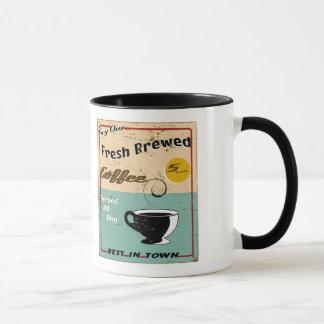 Vintages Kaffee-Geschäfts-Zeichen Tasse