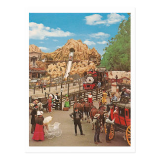 Vintages Kaliko-Quadrat Postkarte