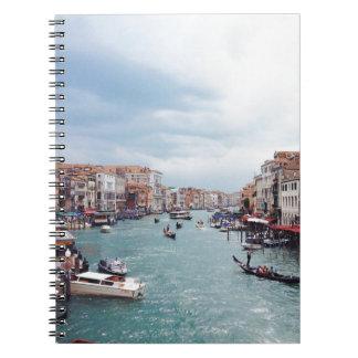 Vintages Kanal-Foto Italiens Venedig Notizblock