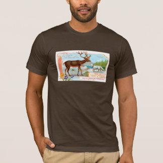 Vintages Karibu (Ren) und arktischer Fox T-Shirt