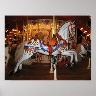 Vintages Karussell-Pferd 001 01 Poster