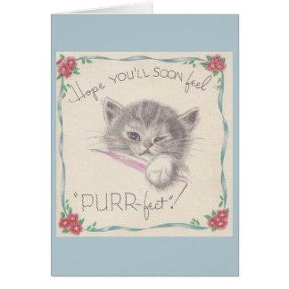 Vintages Kätzchen erhalten wohle Karte