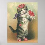 Vintages Kätzchen Plakat