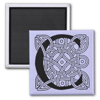 Vintages keltisches Knoten-Monogramm des Quadratischer Magnet
