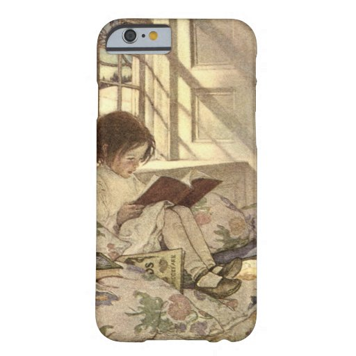 Vintages Kind, das ein Buch, Jessie Willcox Smith Barely There iPhone 6 Hülle