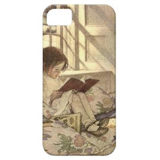 Vintages Kind, das ein Buch, Jessie Willcox Smith iPhone 5 Schutzhülle