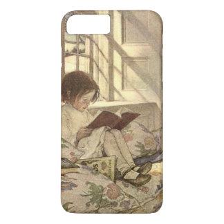 Vintages Kind, das ein Buch, Jessie Willcox Smith iPhone 8 Plus/7 Plus Hülle