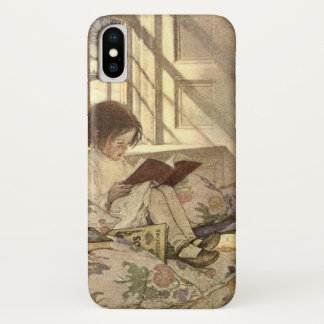 Vintages Kind, das ein Buch, Jessie Willcox Smith iPhone X Hülle