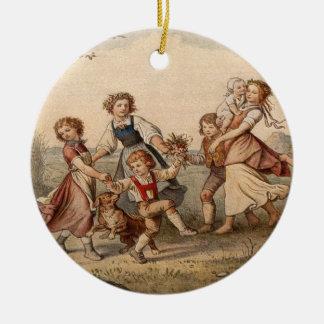 Vintages Kindertanzen Ornament