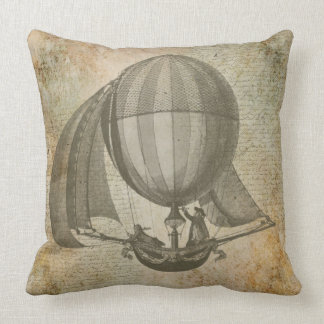 Vintages Kissen des Heißluftballons