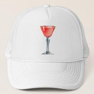 Vintages Kitsch-Schnaps-Cocktail-rosa Dame Truckerkappe
