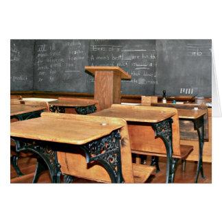 Vintages Klassenzimmer Karte