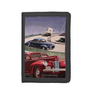 Vintages klassisches Sedan-Auto-Fahren auf die