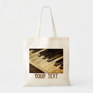 Vintages Klavier befestigt Taschen-Tasche Budget Stoffbeutel