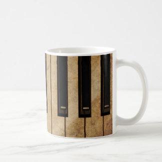 Vintages Klavier des Grunge Kaffeetasse