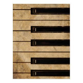 Vintages Klavier des Grunge Postkarte