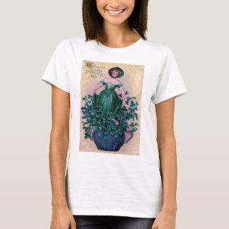 Vintages Kleeblatt-Erstharfe von Erin St Patrick T-Shirt