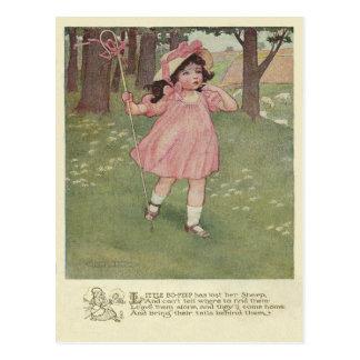 Vintages kleines BO lugen Postkarte